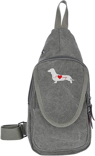 Unisex Messenger Bag Dachshund Dog Shoulder Chest Cross Body Backpack Bag