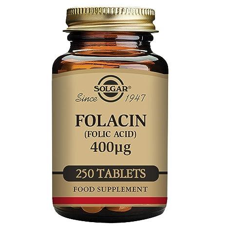 Solgar Acido Fólico 400 Mcg - 250 Tabletas