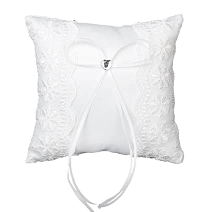 LEORX novia elegante boda bolsillo anillo portador almohada ...