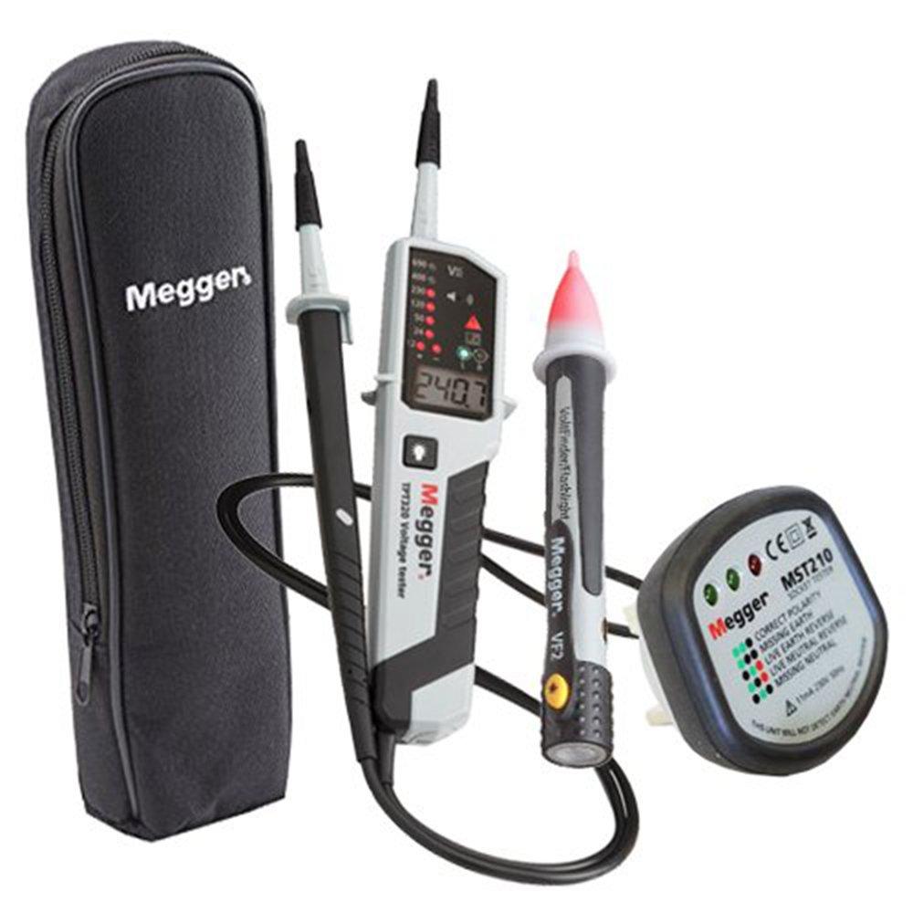 Megger Tpt320 Kit19 Voltage Continuity Tester Vf2 Mst210 Case Ideal Receptacle Circuit Voltagecontinuity Pricefallscom Kit Lcd Led 12 To 690 Volt Ac Dc 0 500 Kilohm Two Pole