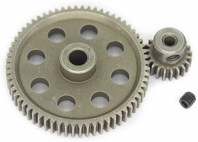 5pcs//Set Differential Main Metal Spur Motor Gear RC Toys Part for HSP Truck