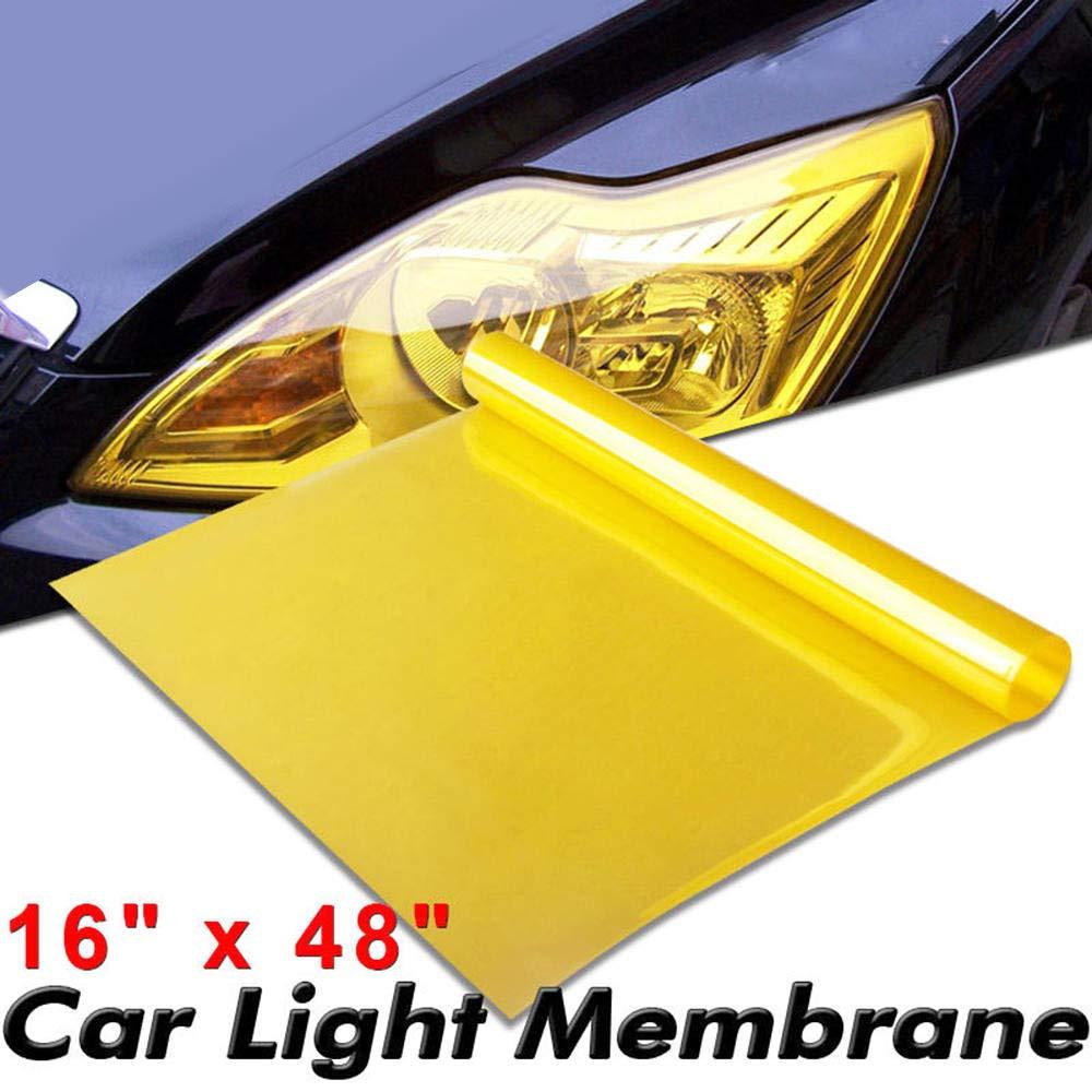 120 * 40cm Gelb Nebelscheinwerfer R/ücklicht Nebelscheinwerfer Vinyl Film Tint Wrap Merssavo 2pcs Nebelscheinwerfer Film