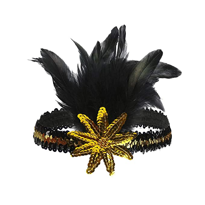 Xmiral Mujer Elegante Pluma Diadema Floral para Carnaval Fiesta ...