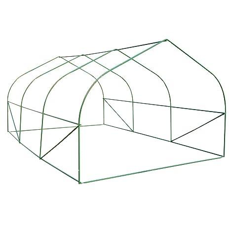 HOMCOM - Invernadero caseta 450 x 300 x 200 Jardin terraza Cultivo de Plantas semilla: Amazon.es: Jardín
