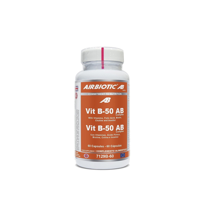 AB - Vitaminas B-50 Complex para la Salud y Contra la Fatiga, 60 Cápsulas: Amazon.es: Salud y cuidado personal