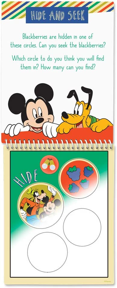 Mickeys Outddor Fun Scented Reusable Water Reveal Activity Books BlackBerry Scentco Water Magic