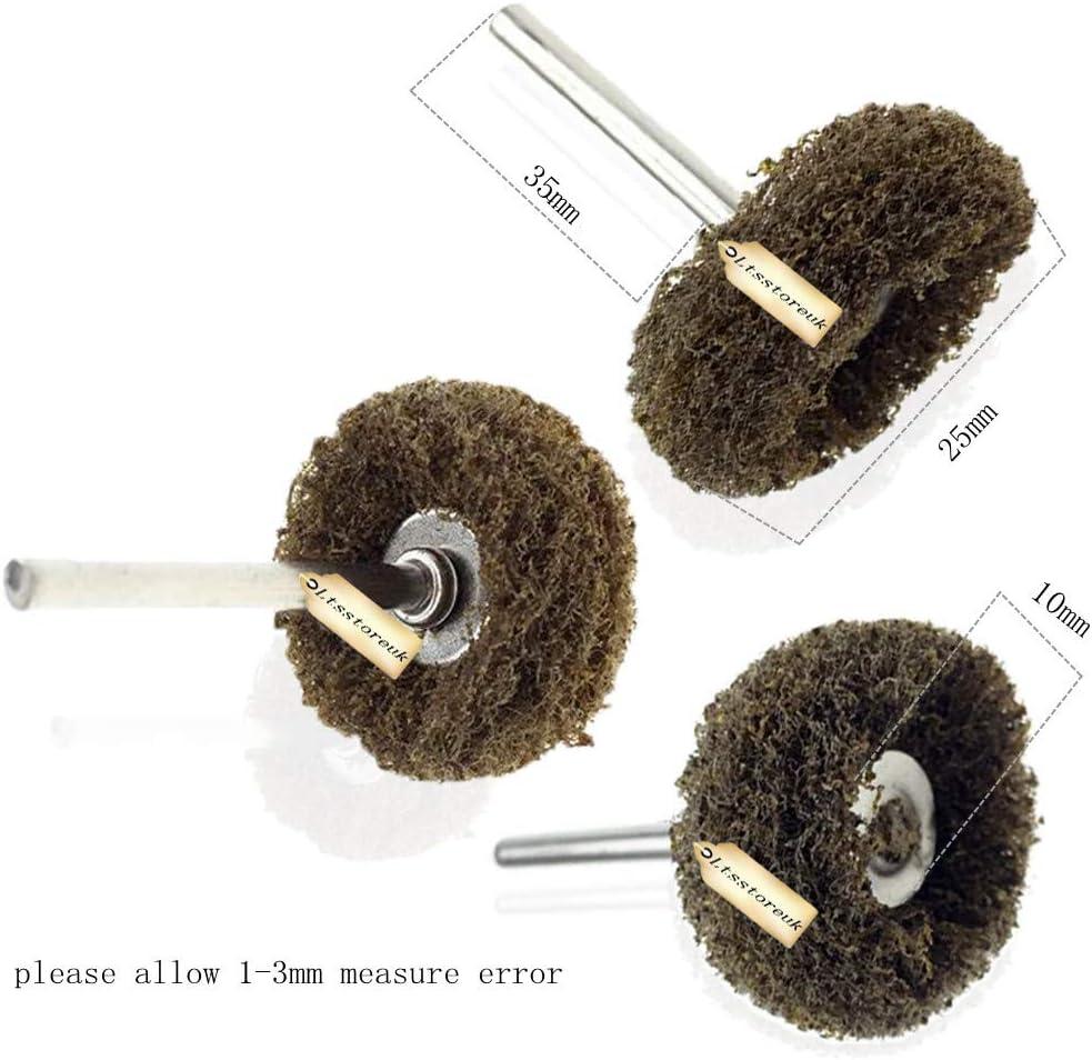 grain 150 240 grains 300 compatibles avec loutil rotatif Dremel 2,5 cm Lot de 80 roues abrasives de finition pour polissage de roues grain 80 Ltsstoreuk