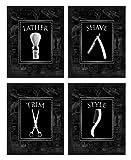 Wallables Black-on-Black Vintage Barbershop