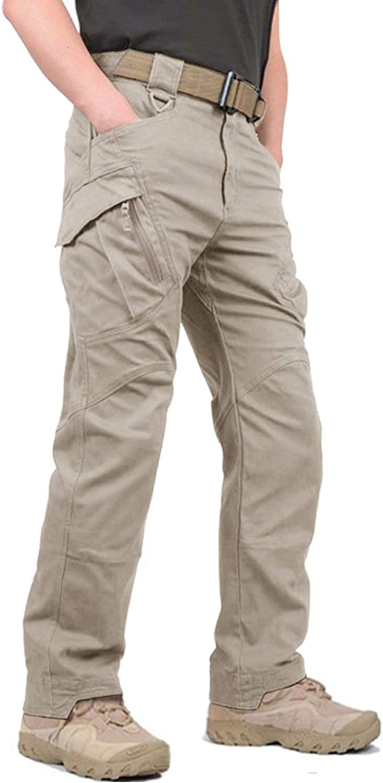 KEFITEVD Cargo Pantalones Hombre Pantalones tácticos Hombre Pantalones al Aire Libre Pantalones de Caza Ripstop Pantalones Militares Pantalones Militares