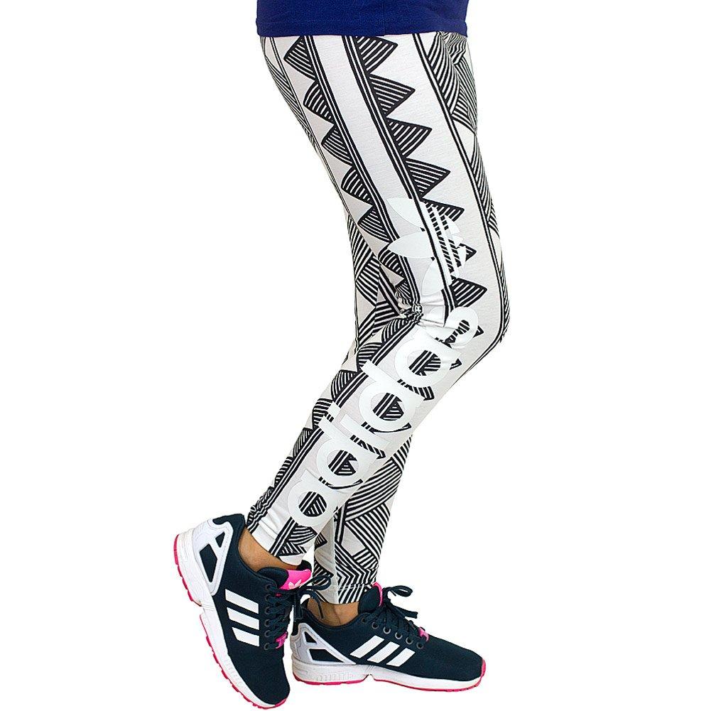 Adidas Originals Leggings Mexkumerex Trefoil weißschwarz