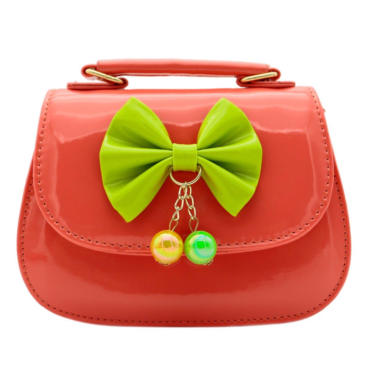 Scheppend moda bambina borsa bambini borsa monospalla doppio scopo borsa laccate pelle borsa rosa FS2017052609