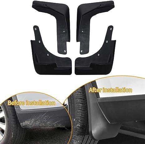 for Dodge Journey 2009-2018 Auto Mud Flaps Splash Guards Front/&Rear Fender 4 Pieces Set PP Plastic Black with Mud Guard Screw
