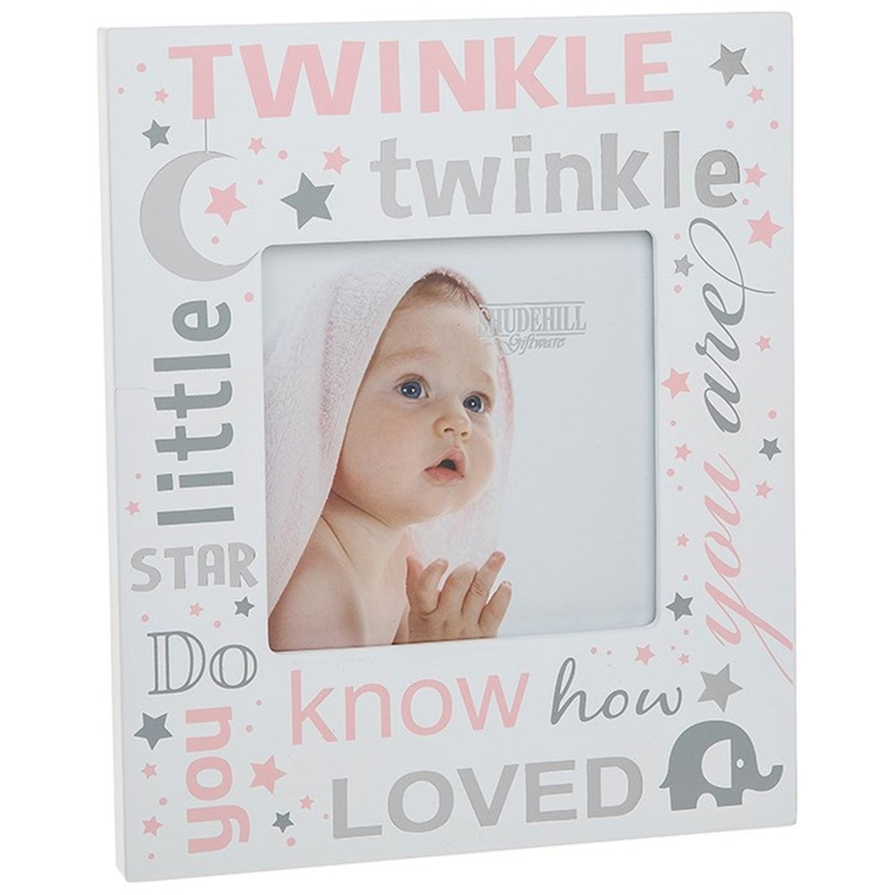 Twinkle Twinkle Little Star Baby Picture Photo Frame (BOY BLUE) Shudehill Giftware