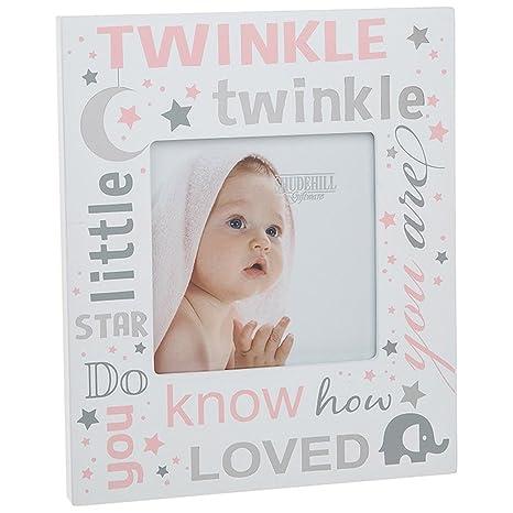 Twinkle Twinkle Little Star marco de fotos ~ Baby Girl rosa: Amazon ...