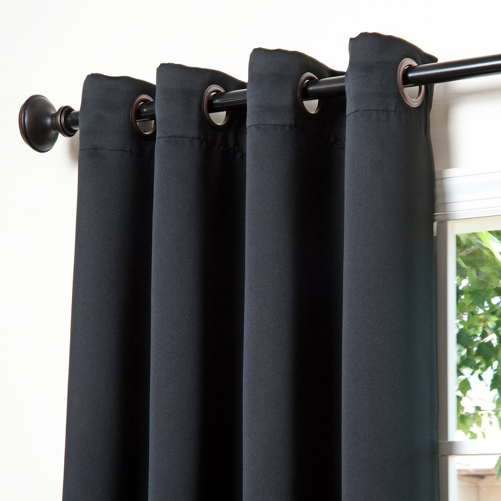 ChadMade Premium Heavyweight Room Divider Curtain In Black 5ft Wide x 9ft Height