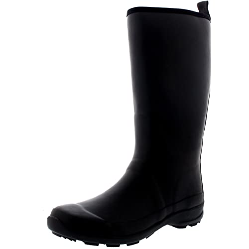 Womens Contrast Sole Tall Rubber Muck Winter Snow Outdoor Wellies Boots