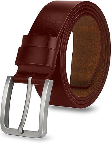 MPTECK @ Hombres Cintur/ón de Cuero Correa Cinturones 120cm Dise/ñado para caballero hombres Adulto cintura normal cintura cintur/ón Prenda para hombre Negocio formal ropa casual
