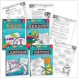 Amazon com: 180 Days of Practice - 2nd Grade Workbook Set - Includes