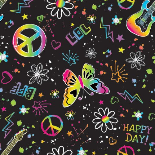 irthday Party Doodle Gift Wrap Supply (1 Piece), 5' x 30