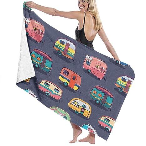 Serviette de bain, Microfiber Beach Towel Blanket Quick Fast ...