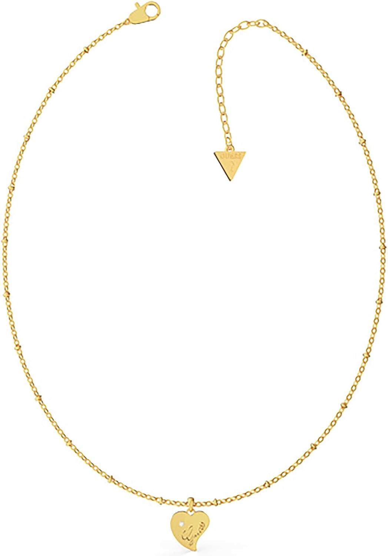 Supongo Collar de Las Mujeres del Acero Inoxidable Colgante de Corazn, Y la Luz de Color Oro UBN79013