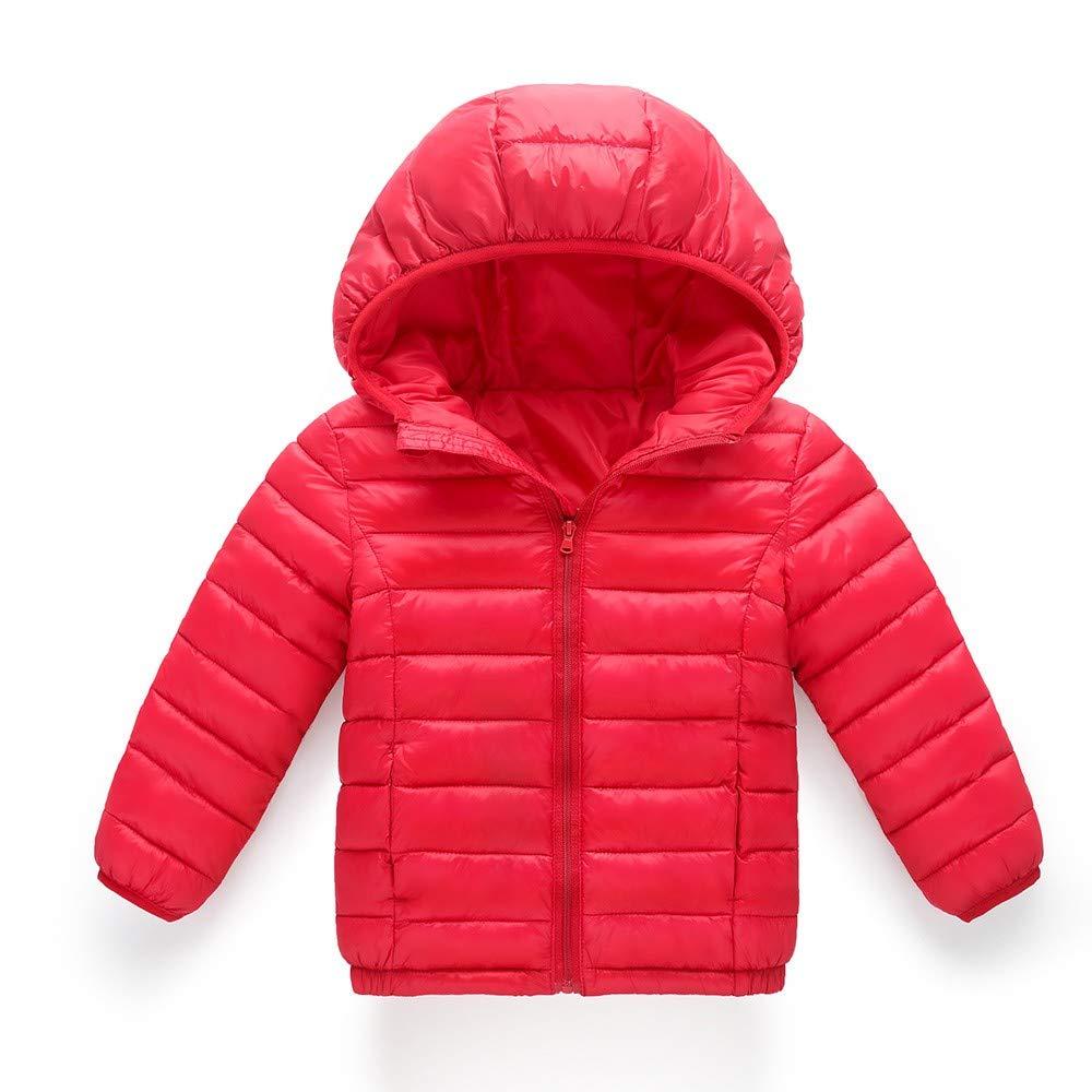 G-real Boys Girls Hooded Down Jacket Winter Warm Fleece Coat Windproof Zipper Puffer Outerwear