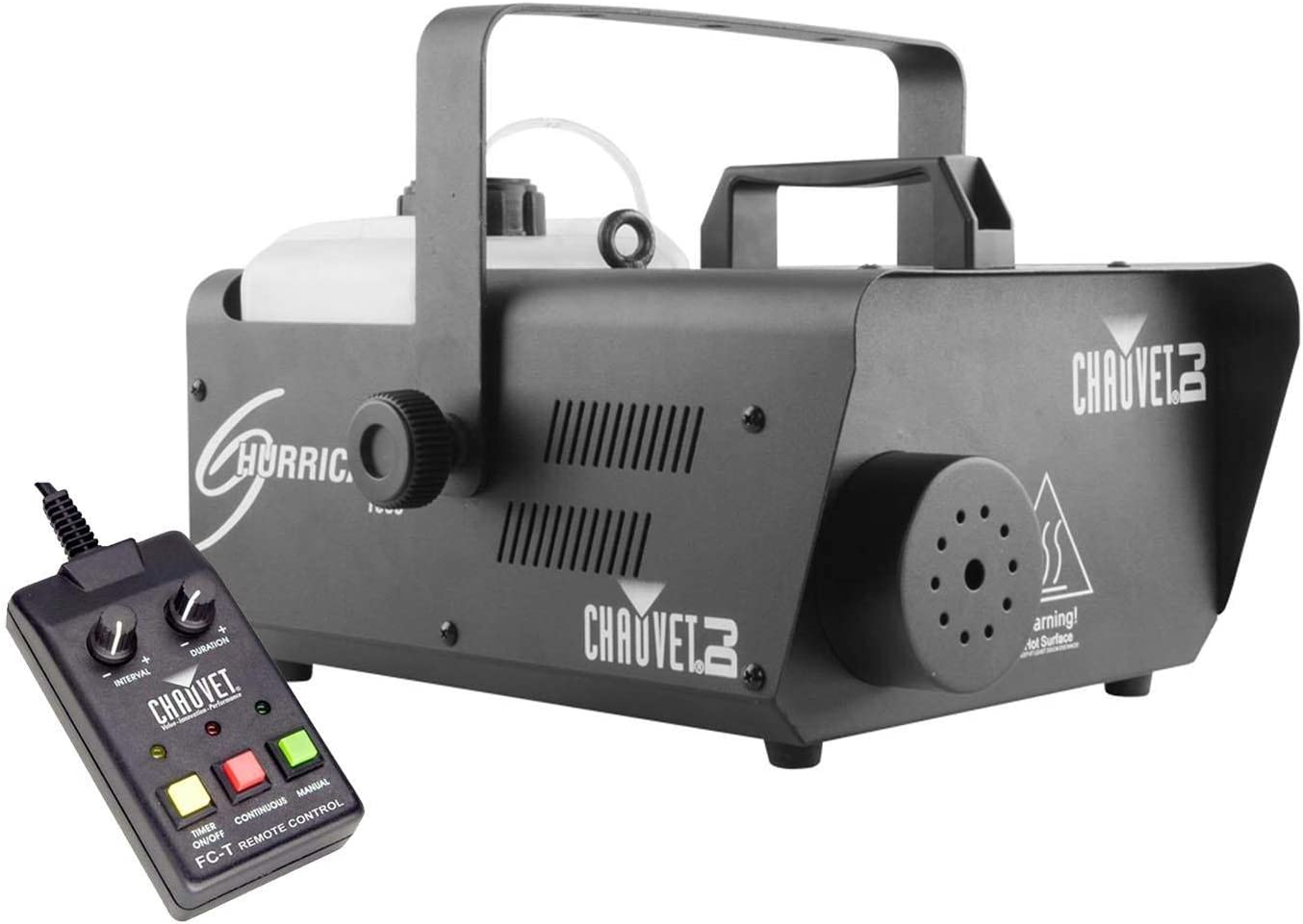 CHAUVET DJ Hurricane 1600 Compact High-Output Fog Machine w/Timer Remote & Automatic Shut-Off