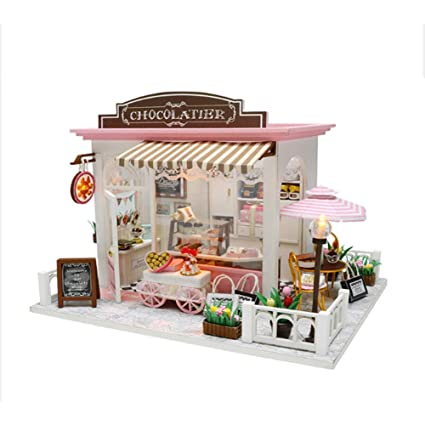 Amazon Com Bestlee Diy Miniature Dollhouse Kits Creative Wooden