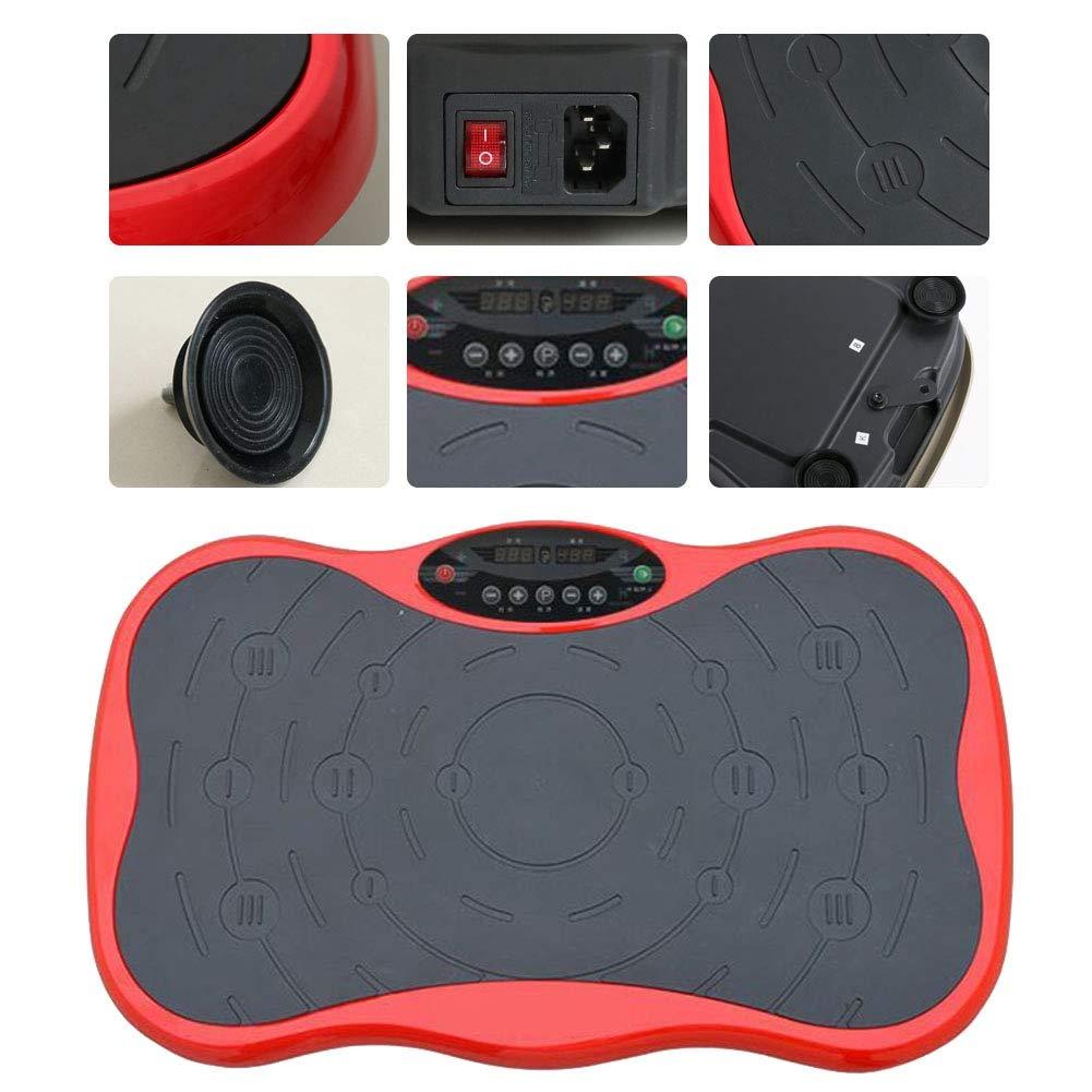 Rot AYNEFY Vibrationsplatte,99 Intensit/ätsstufen Fitness Platte Vibrationsplatte Ganzk/örper Fitness Vibrationsplatte mit LCD Display Sport vibrationsplatte mit Zugseil Und Fernbedienung