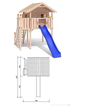 Wundervoll ISIDOR WONDER WOW Spielturm Kletterturm Baumhaus Rutsche Schaukeln  GZ86