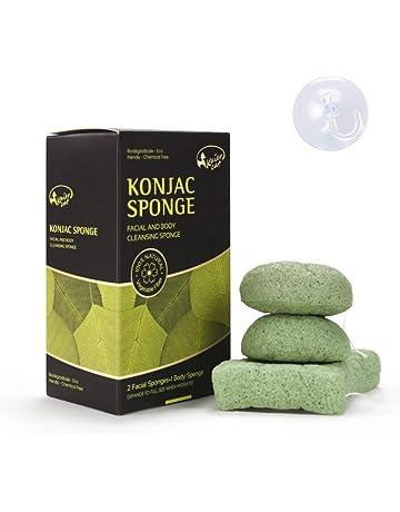 Esponja Facial & Corporal Kaiercat® Konjac 100% Natural, Exfoliante Suave, Limpieza Profunda