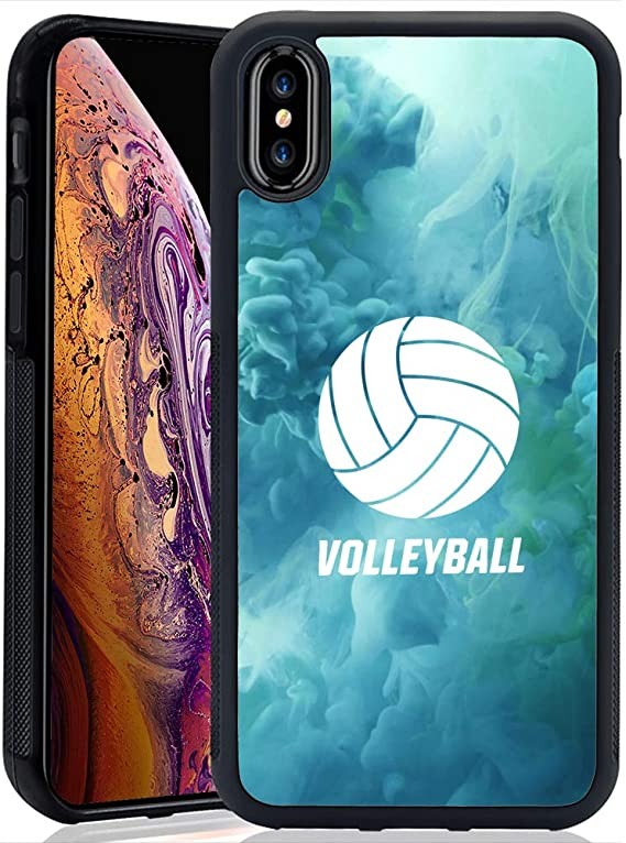 Amazon Com Youxieshang Case With Blue Volleyball Pattern For Iphone Xs Max 2018 Whimsical Design Bumper Black Soft Tpu And Pc Protection Anti Slippery Fingerprint Case For Iphone Xs Max Electronics