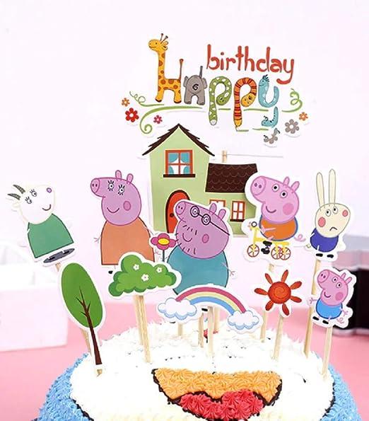 Cake & Sweet Peppa Pig - Decoración para Tarta (12 Piezas ...