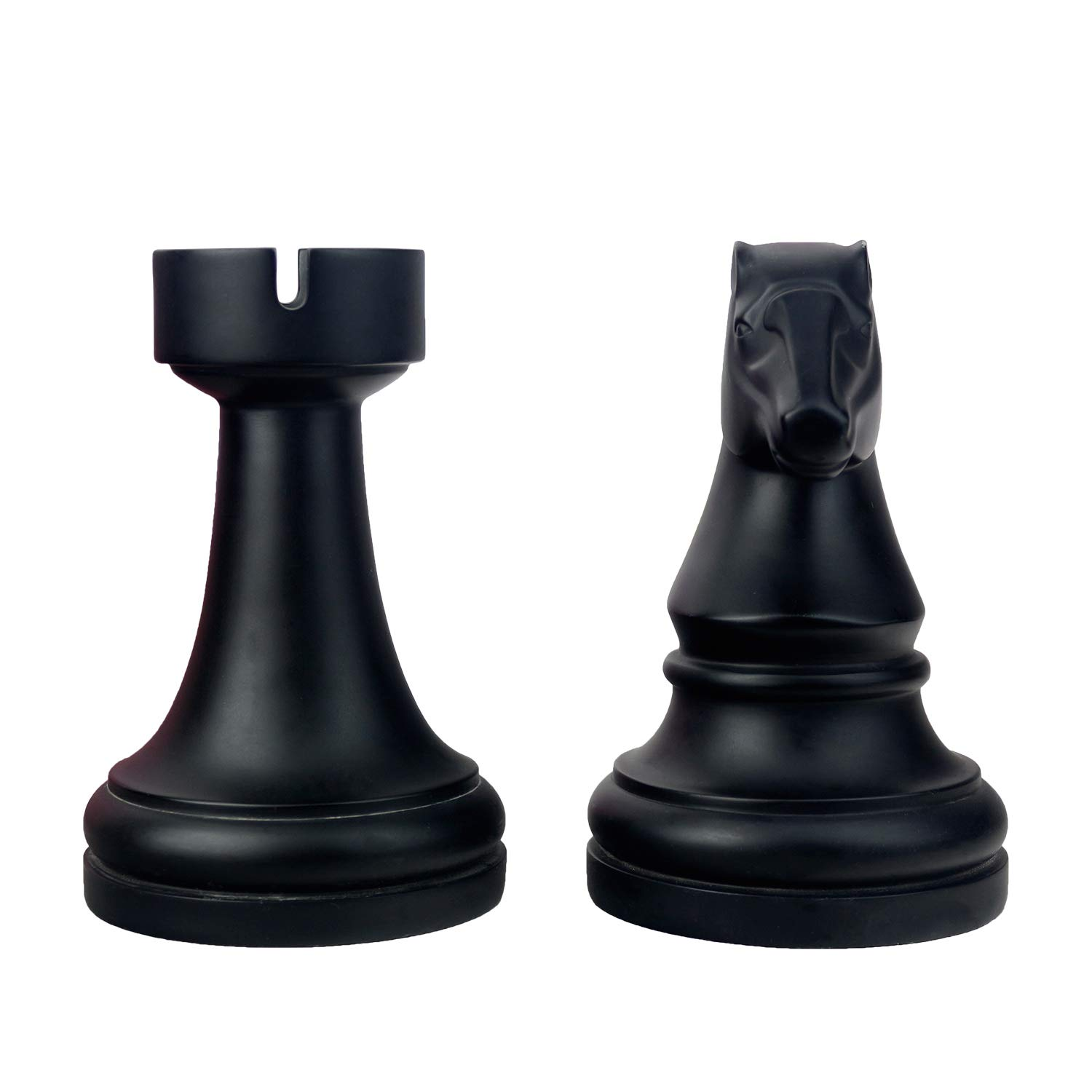 Chess Piece Bookends, Bookends for Heavy Books, 6.7Inch Tall Black Classic Decorative Book Ends, 1Pair/2Piece (Chess)