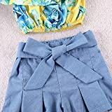 Kids Baby Girls Outfits Floral Ruffle Off