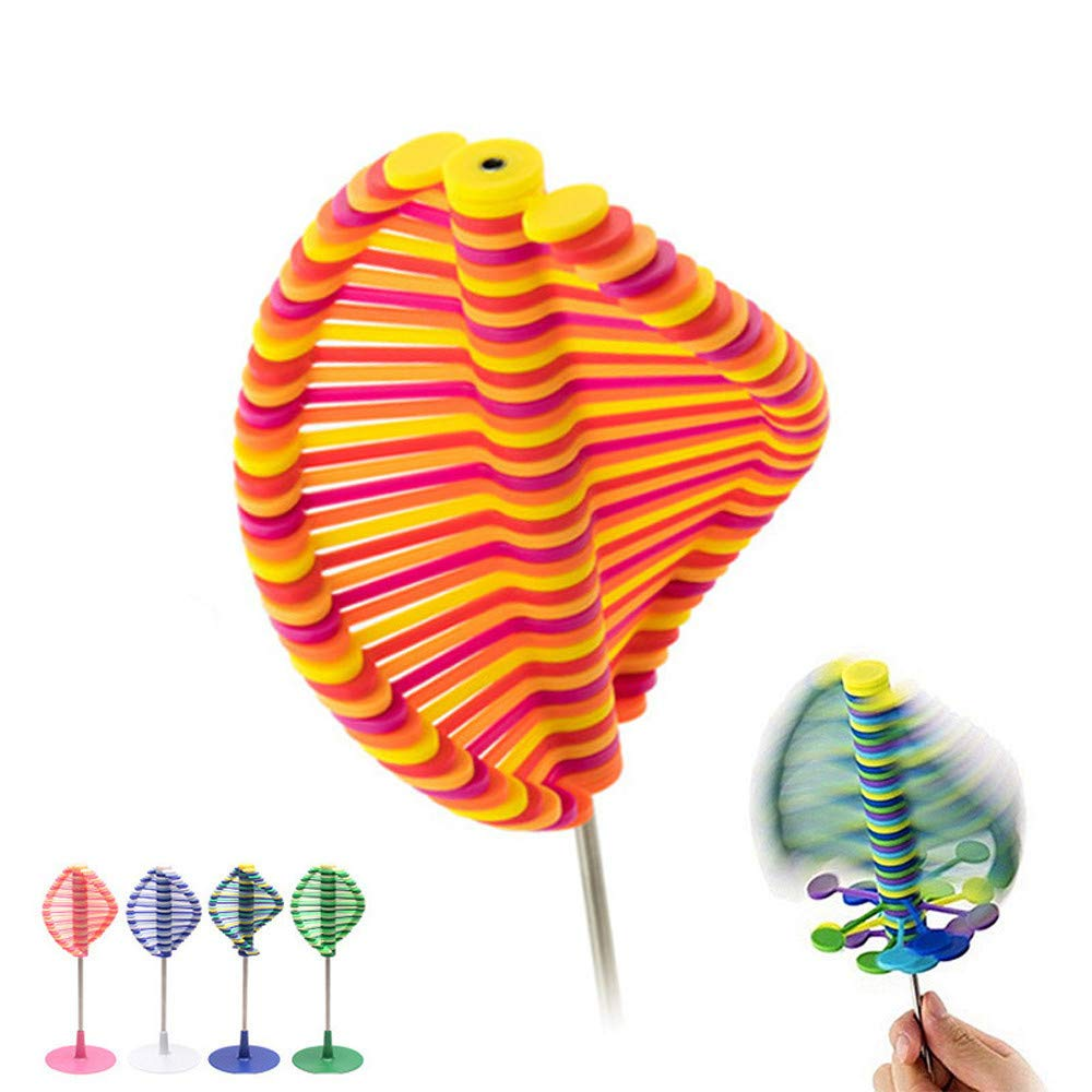 Squishies Magic Rotating Spin Toy, Puzzle Desk Fun Decompression Toy, Lollipop Work Stress Relief for Adult and Kids (A) DICPOLIA Toys