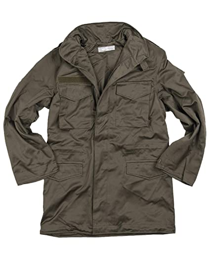 6985431a9f1 Genuine Austrian Army M65 Olive Drab Field Jacket Military Coat Unused  Surplus (96 100)  Amazon.co.uk  Clothing