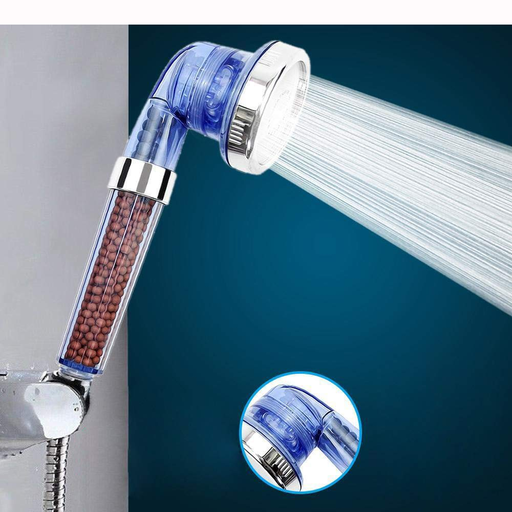 MOVEmen Shower High Turbo Pressure Shower Head Bathroom Hand Large Rainfall Water Saving Filter Hand Shower High Pressure Adjustable Shower Head Top Spray Bathroom Water Saver Garden Shower
