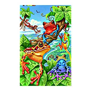 The Frog Garden Flag decorative flags initial flags party flags 12.5 x 18 Inch banner home flags Print flags