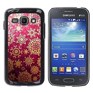TECHCASE**Cubierta de la caja de protección la piel dura para el ** Samsung Galaxy Ace 3 GT-S7270 GT-S7275 GT-S7272 ** Star Snowflake Lace Pattern Art Wallpaper