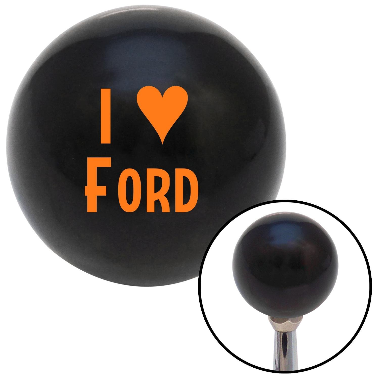 Orange I 3 Ford American Shifter 105634 Black Shift Knob with M16 x 1.5 Insert