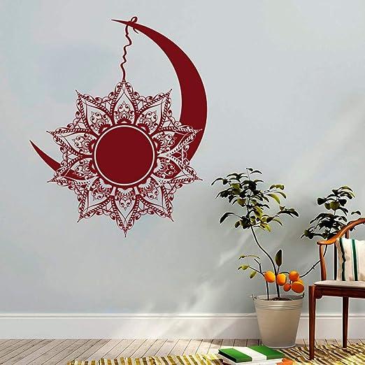 Zhuhuimin Tatuajes de Pared de Luna y Sol Noches y día Bohemian ...
