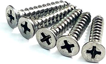 24 Pack Hinge Outlet Stainless Steel Screws 9 x 1 Inch for Door Hinges Highly Rust Resistant