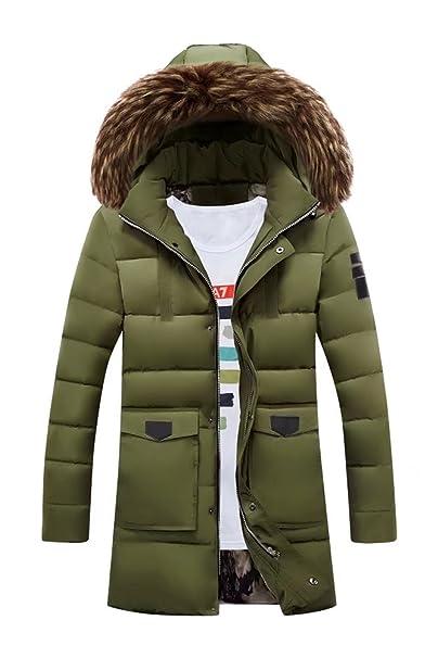 Chaqueta desmontable para Hombre Chaqueta Puffer de invierno pesado Chaqueta abrigo de Parka de algodón acolchado