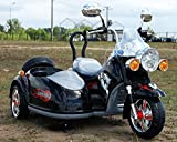 Cool Harley Davidson Style Ride on Motor Bike Chopper with Side Car - Powerful 12v Motor
