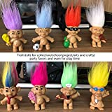 8PCS Troll Dolls, 80s' PVC Vintage Trolls Lucky Doll Action Figures 3