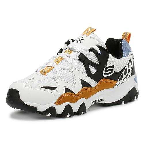 Piece 2 D'lites Zapatillas Skechers Mujer One Blanconegro Dorado DWH9E2IY