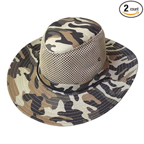 b7af59fc769f3 Amazon.com   EORTA 2 Pack Men Camouflage Hats with Wide Full Brim ...