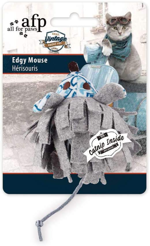 ALL FOR PAWS Real Vintage Edgy Mouse Catnip Toy 1.8 kg