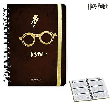 Agenda escolar 2019/2020 A5 12 meses Harry Potter boli y llavero producto oficial con licencia